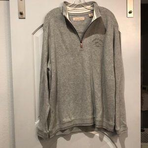 Tommy Bahama Gray 1/4 zip sweatshirt. NWOT!
